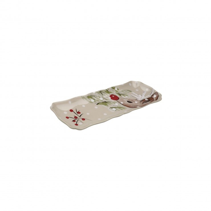 DEER FRIENDS RECTANGULAR TRAY