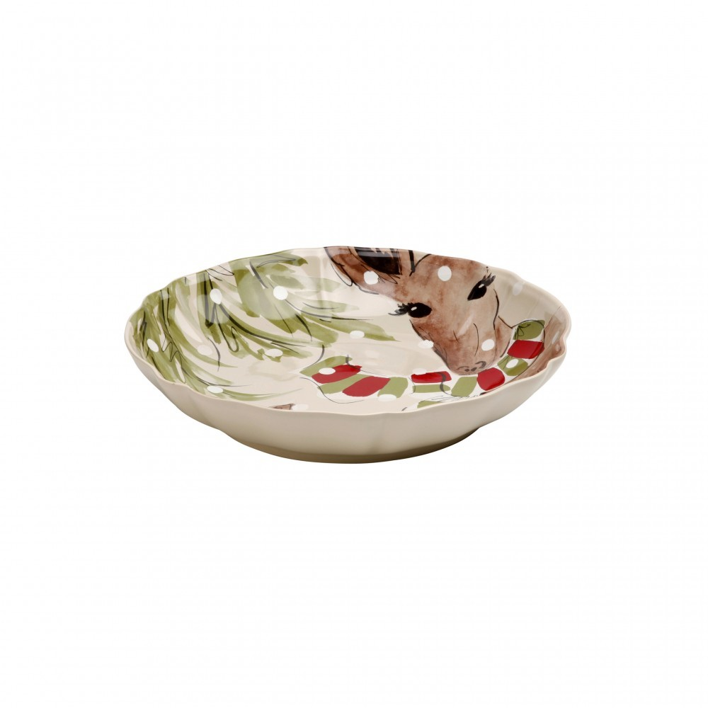 DEER FRIENDS LARGE SHALLOW BOWL
