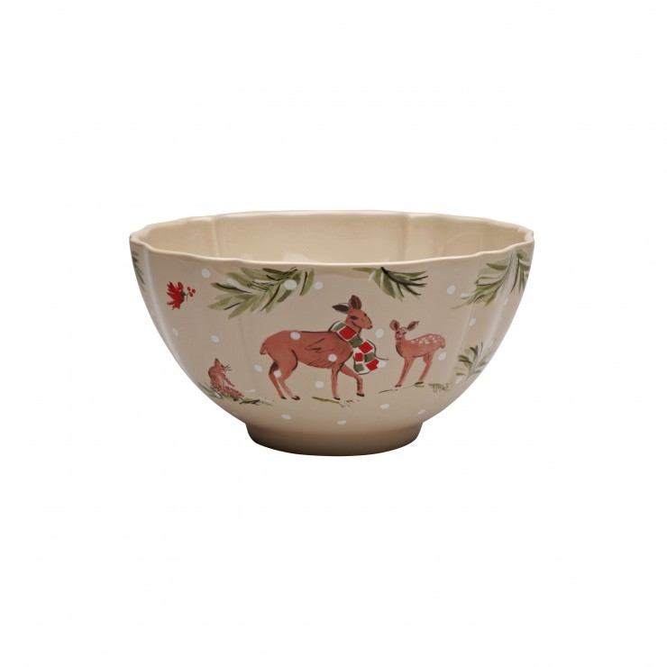 DEER FRIENDS LARGE TALL BOWL