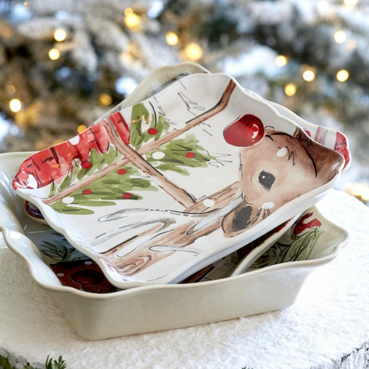 DEER FRIENDS SQUARE TRAY