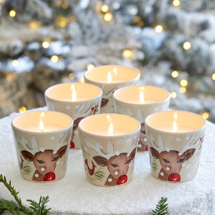 DEER FRIENDS VOTIVE W/WAX