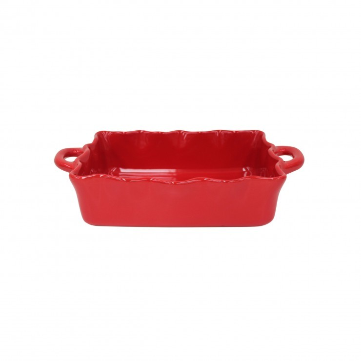 COOK & HOST MEDIUM RECTANGULAR RUFFLED BAKER