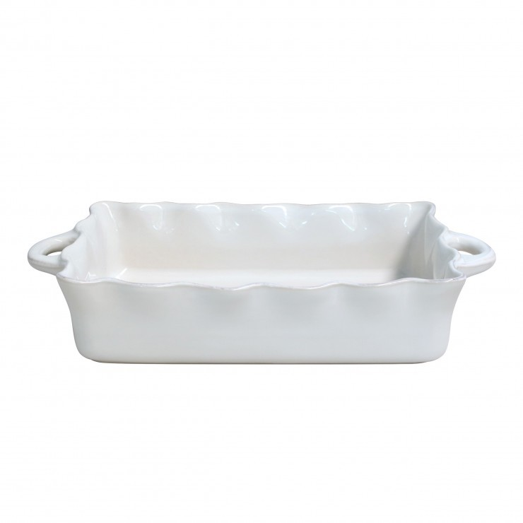 COOK & HOST LARGE RECTANGULAR RUFFLED BAKER