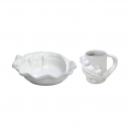 LES ENFANTS PLATE & MUG SET, ALLIGATOR
