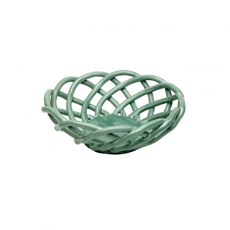 CERAMIC BASKETS MEDIUM ROUND BASKET