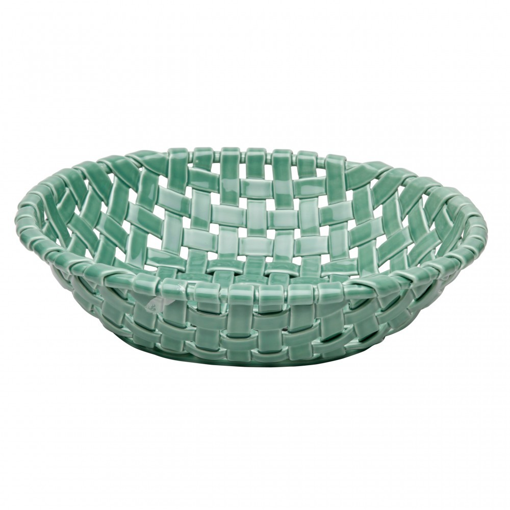 CERAMIC BASKETS LARGE OVAL BASKET