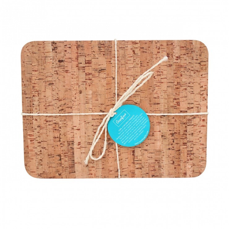 SET 4 RECT. PLACEMATS CORK COLLECTION