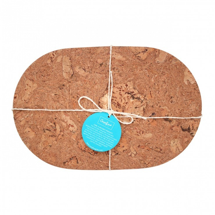 CORK SET OF 4 OVAL PLACE MATS