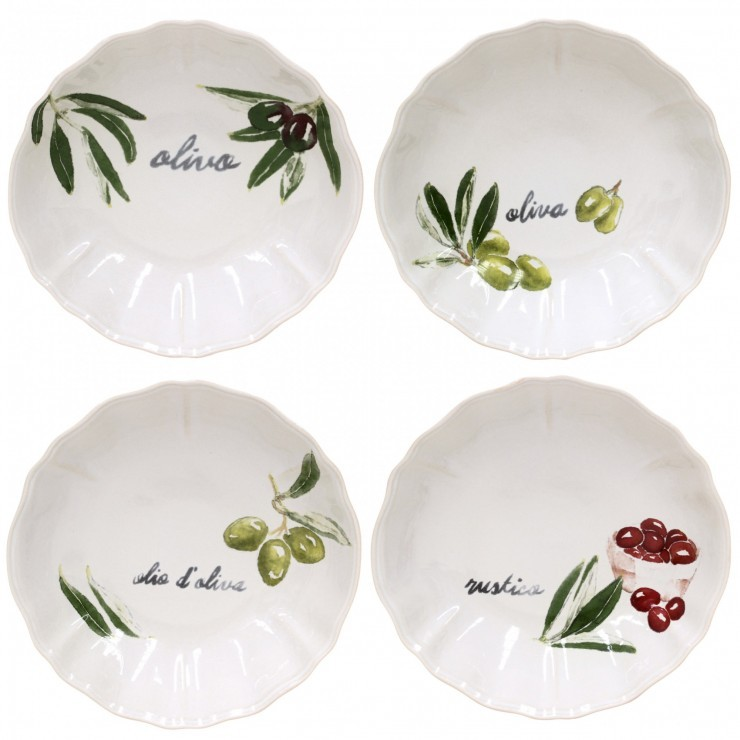 OLIVIA SET 4 SOUP/PASTA PLATES