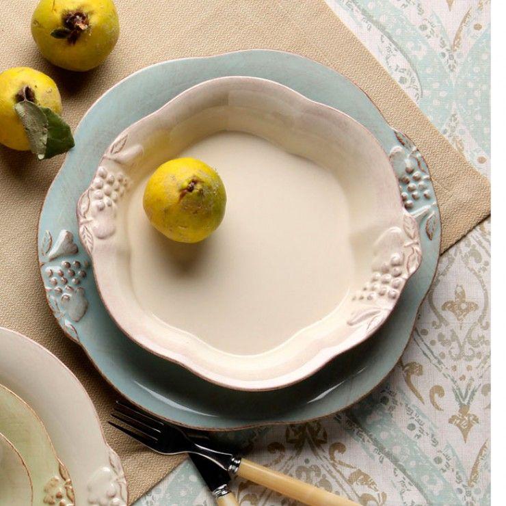 """DINNER PLATE 11"""" MADEIRA HARVEST"""