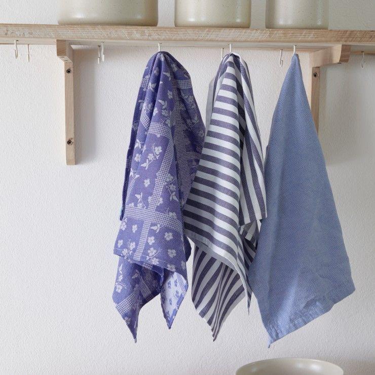 SET 2 KITCHEN TOWELS FLOWERS