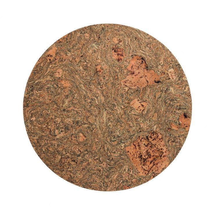 SET 4 ROUND PLACEMATS CORK COLLECTION
