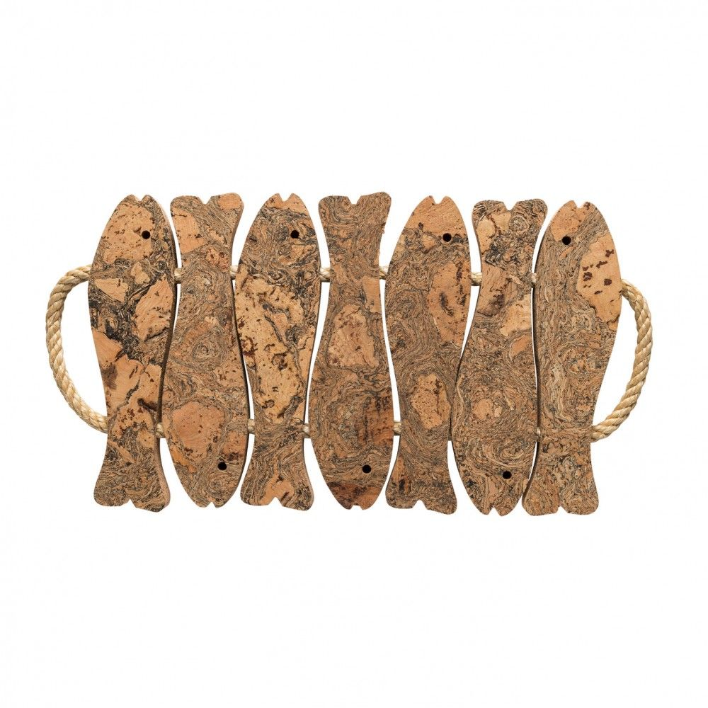 7 FISH TRIVET W/ ROPE HANDLE CORK COLLECTION