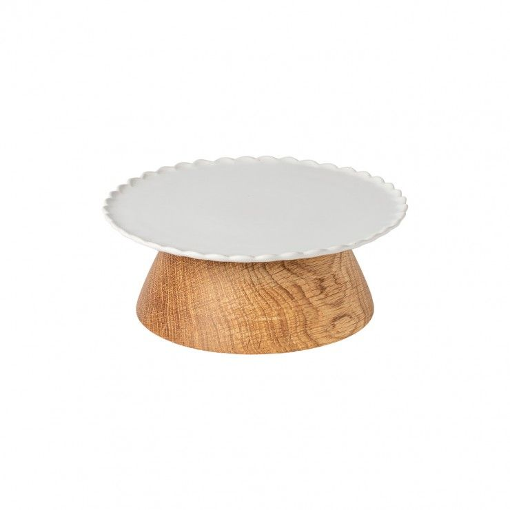 FOOTED PLATE 21 W/ WOODEN STAND FORMA
