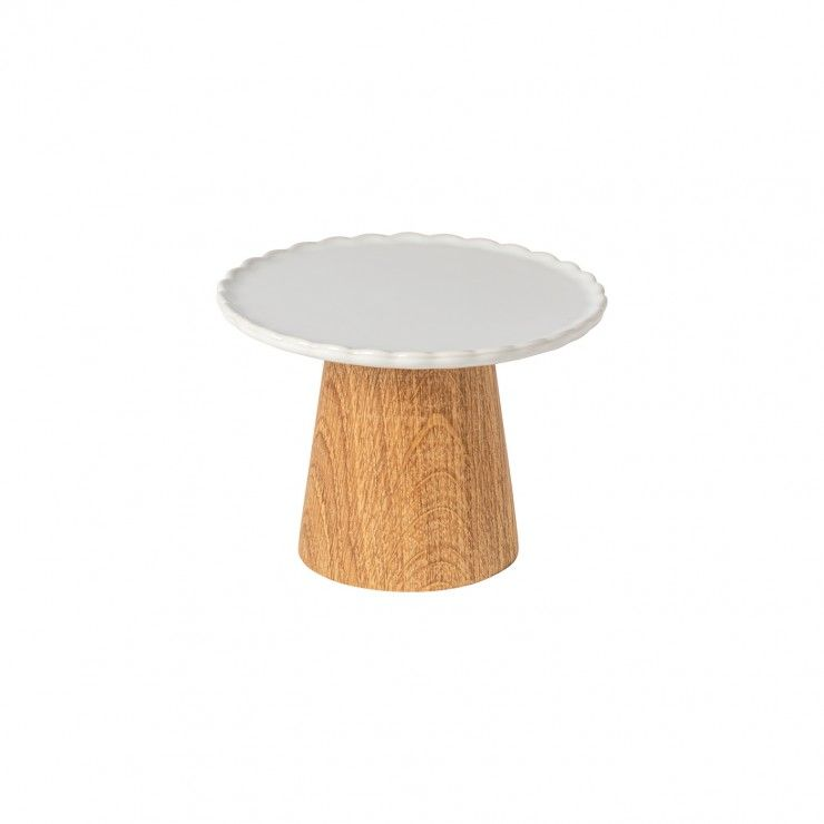 FOOTED PLATE 16 W/ WOODEN STAND FORMA