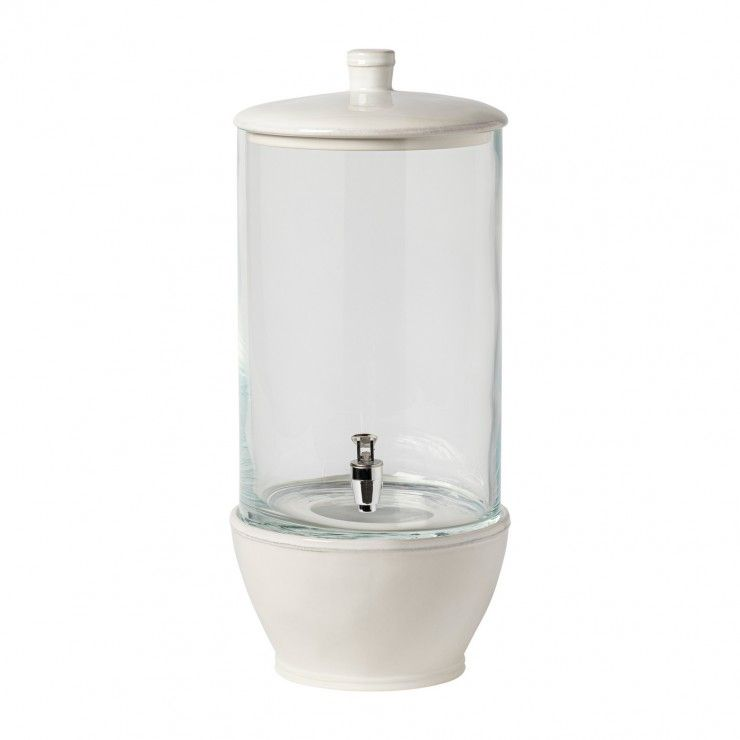 GLASS DRINK DISPENSER 19'' WITH STAND FONTANA